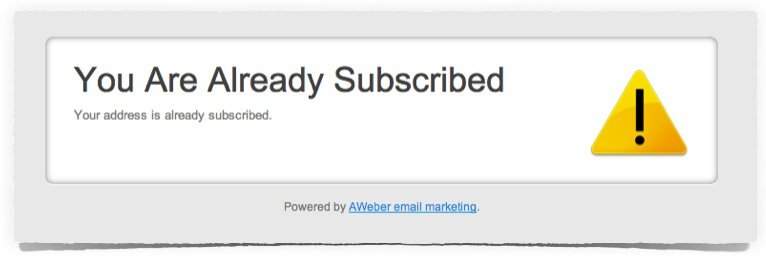 You are already subscribed
