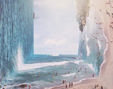 Surreal lucid dreaming landscape