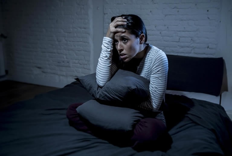 woman wakened from lucid nightmare