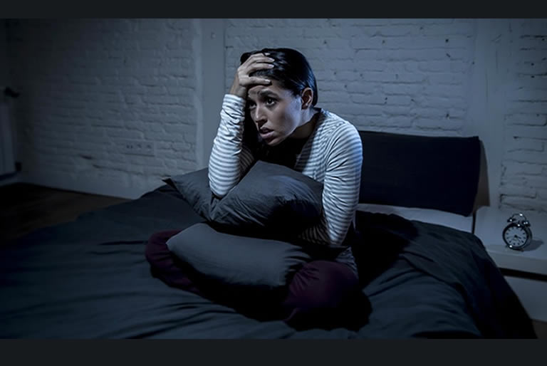 Woman after bad lucid dream